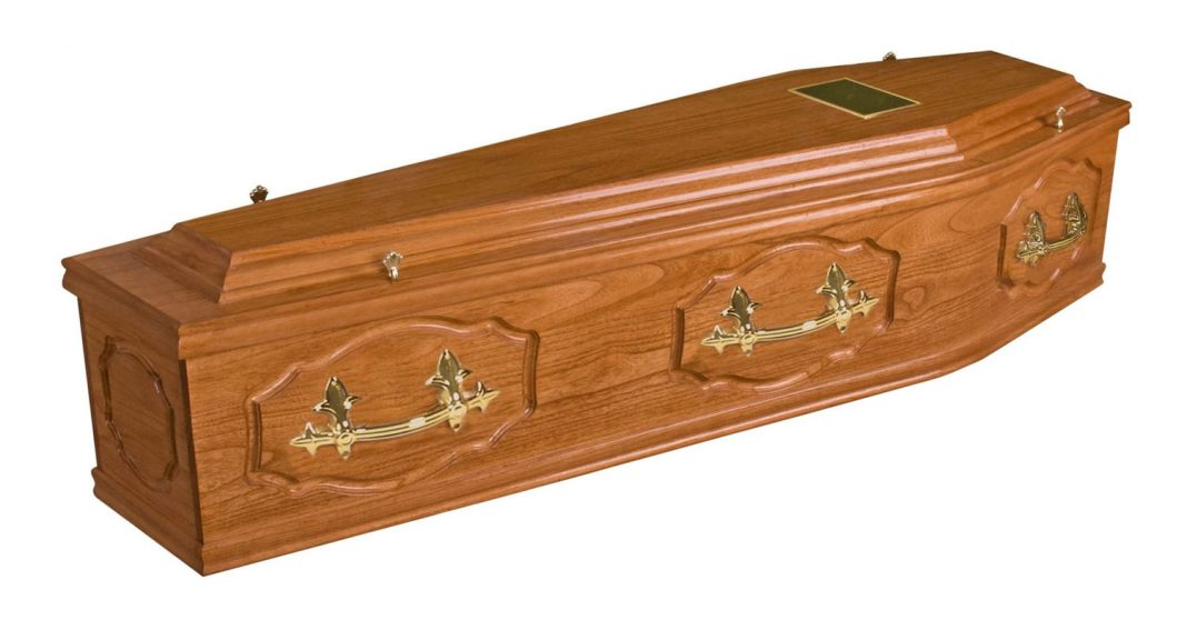 Coffin for sale. Result of wrong diagnosis.