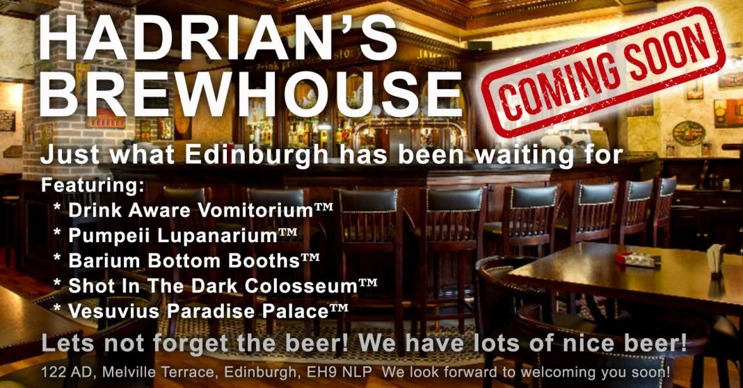 Roman themed Hadrian's Brewhouse set to open in the city