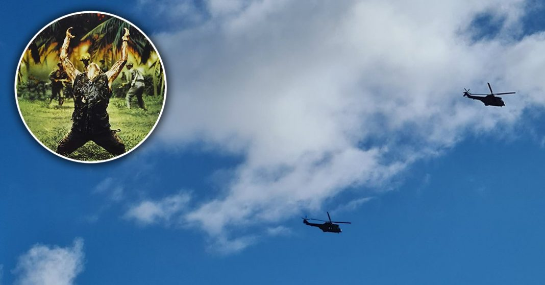 Edinburgh residents feared for their lives as two really loud helicopters circled the city