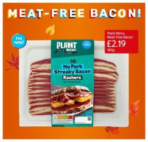 Meat free bacon